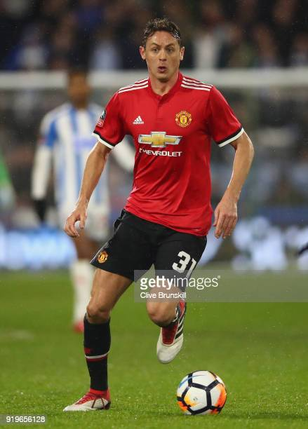 Scott McTominay of Manchester United in action during the The Emirates FA Cup Fifth Round between Huddersfield Town v Manchester United on February...