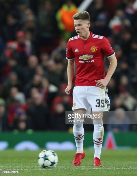 Scott McTominay of Manchester United in action during the UEFA Champions League group A match between Manchester United and CSKA Moskva at Old...