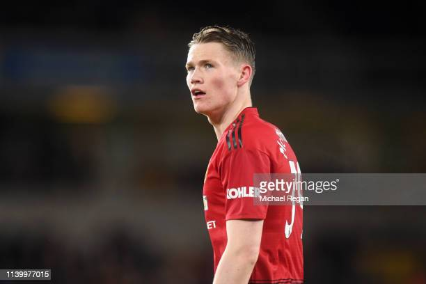 Scott McTominay of Manchester United looks on during the Premier League match between Wolverhampton Wanderers and Manchester United at Molineux on...