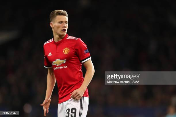 Scott McTominay of Manchester United looks on during the UEFA Champions League group A match between Manchester United and SL Benfica at Old Trafford...