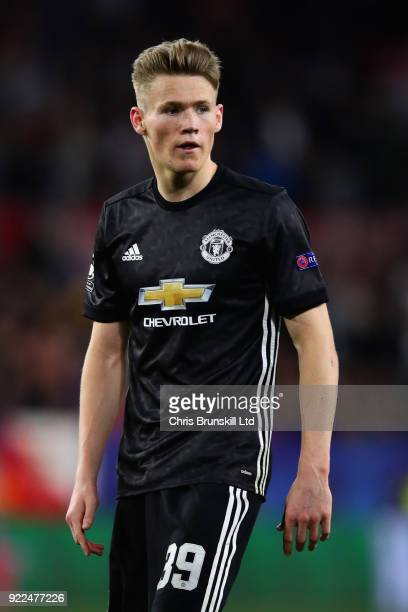 Scott McTominay of Manchester United looks on during the UEFA Champions League Round of 16 First Leg match between Sevilla FC and Manchester United...