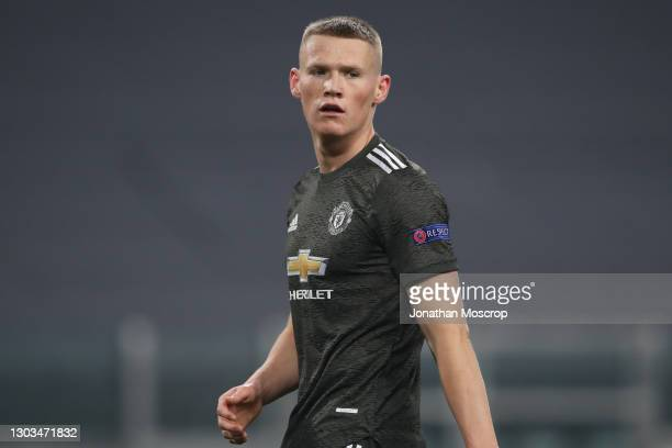 Scott McTominay of Manchester United reacts during the UEFA Europa League Round of 32 match between Real Sociedad and Manchester United at Allianz...