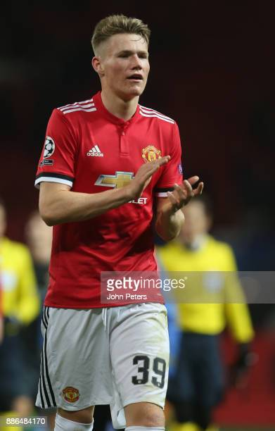 Scott McTominay of Manchester United walks off after the UEFA Champions League group A match between Manchester United and CSKA Moskva at Old...
