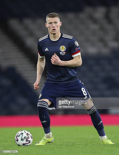 Scott McTominay of Scotland controls the ball during the FIFA World Cup 2022 Qatar qualifying match between Scotland and Austria on March 25, 2021 in...