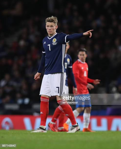 Scott McTominay of Scotland is seen during the Vauxhall International Challenge match between Scotland and Costa Rica at Hampden Park on March 23...
