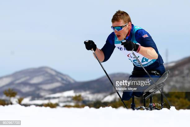 Scott Meenagh of Great Britain competes in the Men's 75 km Classic at Alpensia Biathlon Centre on Day 8 of the PyeongChang 2018 Paralympic Games on...