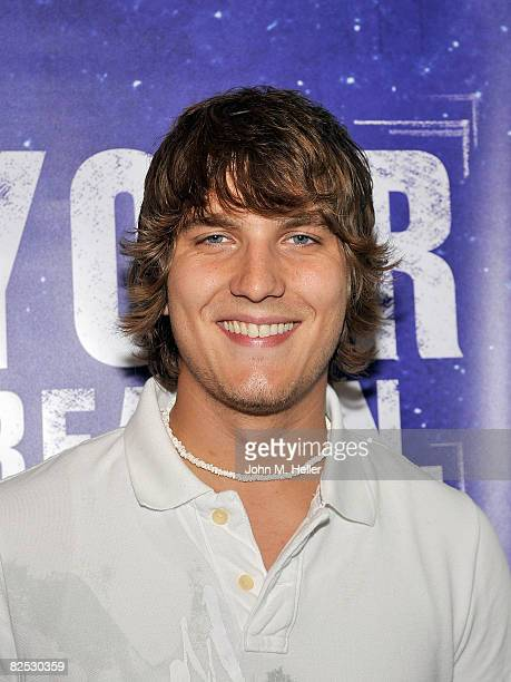 Scott Michael Foster from the cast of ABC Family's Greek signs autographs hosted by Declare Yourself and Follett Bookstores at the Voter Registration...