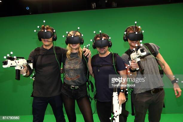 Scott Michael Foster Jake McDorman and guests attend the exclusive launch of IMAX VR's New Virtual Reality Experience Deadwood Mansion by Glostation...