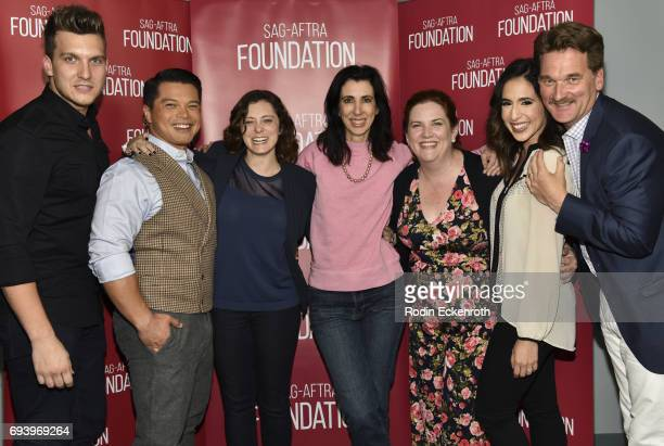 Scott Michael Foster Vincent Rodriguez III Rachel Bloom Aline Brosh McKenna Donna Lynne Champlin Gabrielle Ruiz and Pete Gardner attend SAGAFTRA...