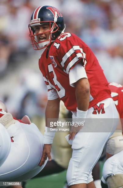 Scott Milanovich, Quarterback for the University of Maryland Terrapins calls the play on the line of scrimmage during the NCAA Atlantic Coast...