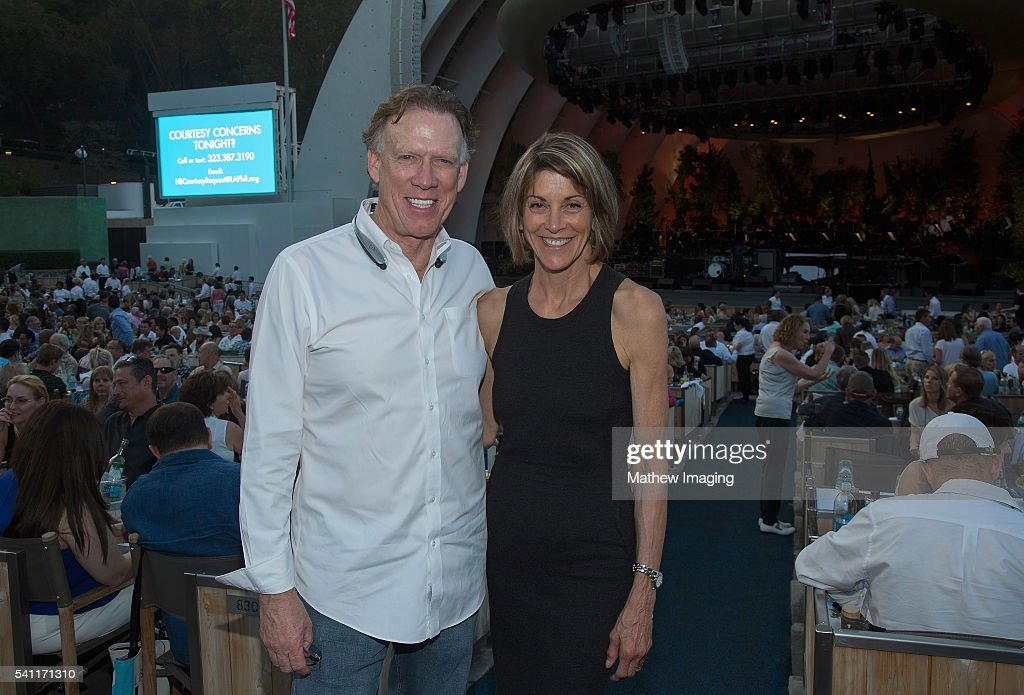 Scott Miller and actor Wendie Malick attend the Hollywood Bowl Opening Night at the Hollywood Bowl on June 18, 2016 in Hollywood, California.