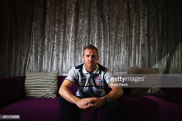 Scott Miller coach of Newcastle Jets poses during the 2015/16 ALeague season launch at the Telstra Customer Insight Centre on October 6 2015 in...