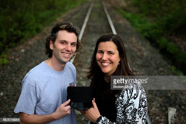 Scott Miller left and Lauren Richey right will be married aboard an MBTA commuter rail train on May 16 2009 The couple met on the commuter rail The...