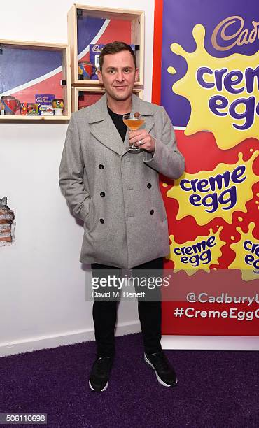 Scott Mills attends the launch of the Cadbury Creme Egg Cafe in Soho on January 21 2016 in London England