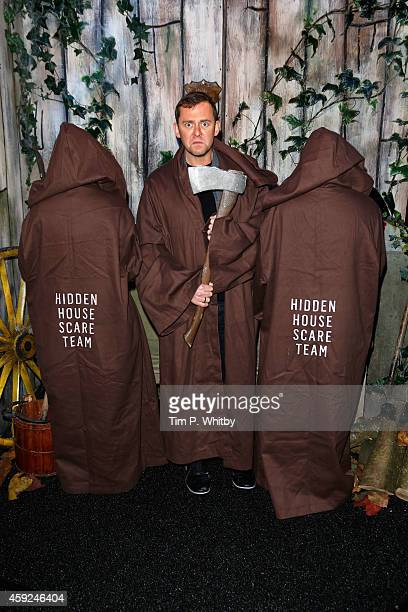 Scott Mills attends the VIP Launch party for The Hidden House at Westfield Stratford City on November 19 2014 in London England The Hidden House is a...