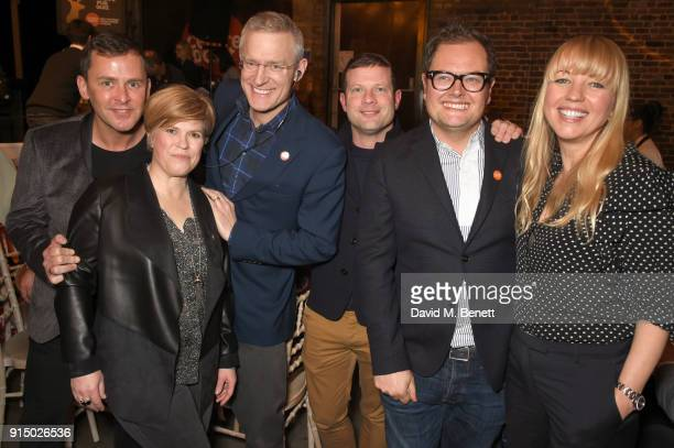 Scott Mills Emma B Jeremy Vine Dermot O'Leary Alan Carr and Sara Cox attend Centrepoint's 10th annual Ultimate Pub Quiz at The Village Underground on...