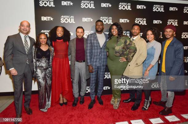 Scott Mills Perri Camper Iantha Richardson Jason Dirden Sinqua Walls Kelly Price Christopher Jefferson Katlyn Nichol and Jelani Winston attend the...