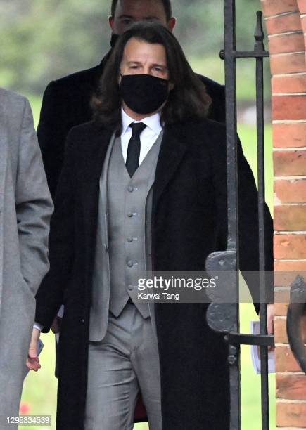 Scott Mitchell departs after attending the funeral of Dame Barbara Windsor at Golders Green Crematorium on January 08, 2021 in London, England....