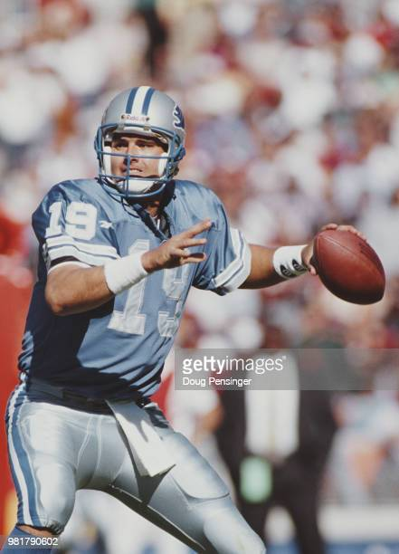 Scott Mitchell Quarterback for the Detroit Lions during the National Football Conference East game against the Washington Redskins on 22 October 1995...