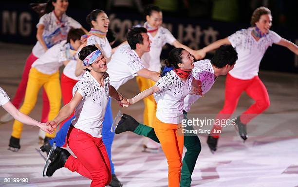 Scott Moir of Canada performs with other skaters during Festa on Ice 2009 at KINTEX on April 24 2009 in Goyang South Korea