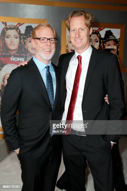 Scott Moore and Jon Lucas attend the premiere of STX Entertainment's 'A Bad Moms Christmas' at Regency Village Theatre on October 30 2017 in Westwood...