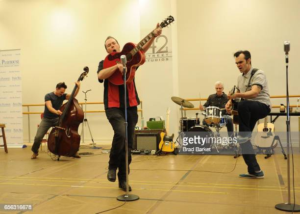 Scott Moreau James Barry David Sonneborn and Sam Weber attend the Million Dollar Quartet Cast Photocall at The New 42nd Street Studios on March 21...