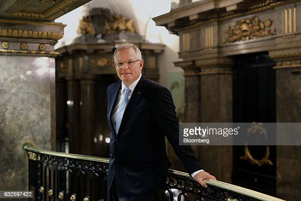 Scott Morrison Australia's treasurer stands for a photograph following a Bloomberg Television interview in London UK on Tuesday Jan 24 2017 Morrison...