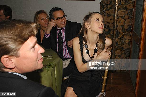 Scott Nelson Tracy Snyder Jeffrey Podolsky and Sasha Lazard attend Engagement Dinner for JAY MCINERNEY and ANNE HEARST hosted by GEORGE FARIAS at La...