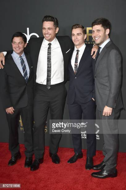 Scott Neustadter James Franco Dave Franco and Michael H Weber attend the 21st Annual Hollywood Film Awards Arrivals on November 5 2017 in Beverly...