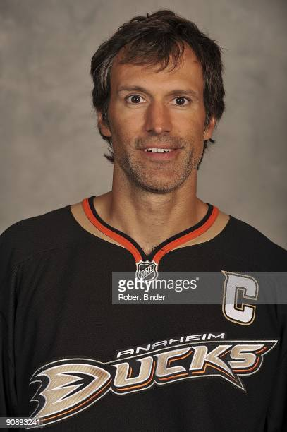 Scott Niedermayer of the Anaheim Ducks poses for his official headshot for the 20092010 NHL season