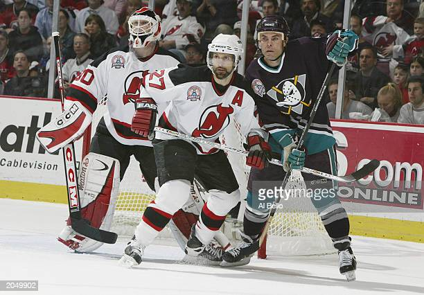 aa13e4f375e Scott Niedermayer of the New Jersey Devils and Adam Oates of the Mighty  Ducks of Anaheim