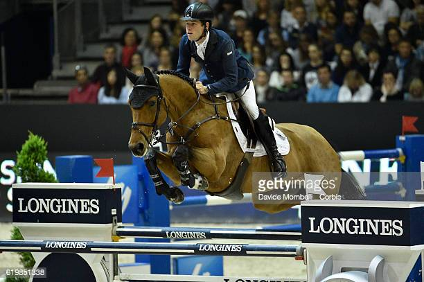Scott of Great Britain rides Ursula XII during the Grand Prix Longines FEI World Cup by GL Events at in the EQUITA Lyon France Photo by Davide...