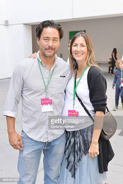 Scott Oster and Anna Getty attend Hammer Museum KAMP 2016 on May 22 2016 in Los Angeles California