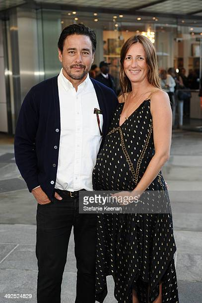 Scott Oster and Anna Getty attend LACMA's Director's Circle And NETAPORTER Celebrate The Wear LACMA Spring 2014 Collection at LACMA on May 20 2014 in...