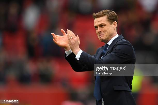 Scott Parker Manager of Fulham applauds fans after the Sky Bet Championship match between Bristol City and Fulham FC at Ashton Gate on March 07 2020...