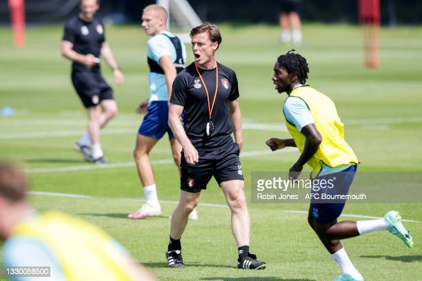 Scott Parker of Bournemouth during a pre-season training session at Vitality Stadium on July 22, 2021 in Bournemouth, England.