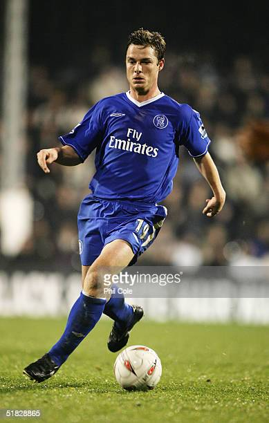 Scott Parker of Chelsea in action during the Carling Cup Fifth Round match between Fulham and Chelsea at Craven Cottage on November 30 2004 in London