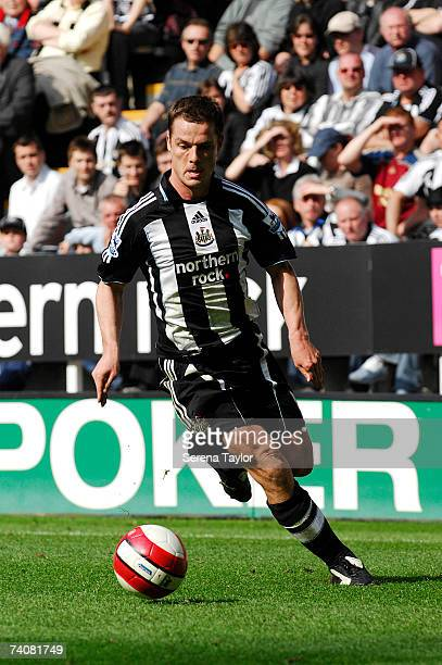 Scott Parker of Newcastle in action during the Barclays Premiership match between Newcastle United and Blackburn Rovers at St James' Park on May 5...