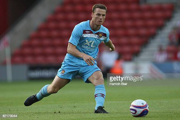 164c67a9490 Scott Parker of West Ham chases the ball during the Pre Season Friendly  match between Southampton