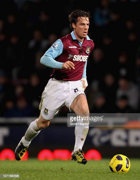 Scott Parker of West Ham during the Barclays Premier League match between West Ham United and Wigan Athletic at Boleyn Ground on November 27 2010 in...