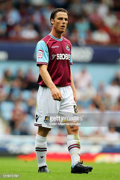 Scott Parker of West Ham looks on during the npower Championship match between West Ham United and Leeds United at Boleyn Ground on August 21 2011 in...