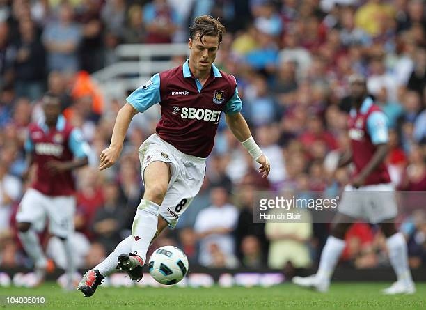 Scott Parker of West Ham United in action during the Barclays Premier League match between West Ham United and Chelsea at the Boleyn Ground on...
