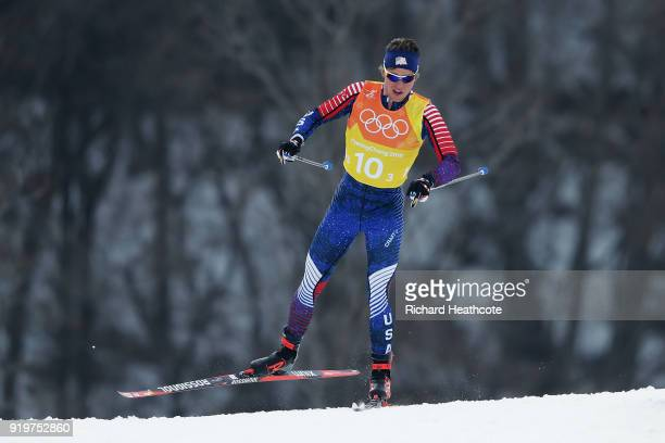 Scott Patterson of the United States competes during CrossCountry Skiing men's 4x10km relay on day nine of the PyeongChang 2018 Winter Olympic Games...