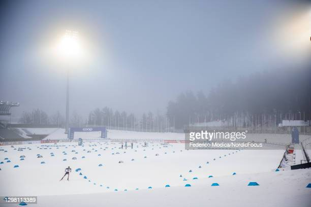 Scott Patterson of the United States competes during the Men's Relay 4x7.5km M at the Coop FIS Cross-Country World Cup Lahti at on January 24, 2021...
