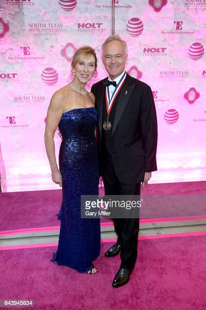 Scott Pelley and wife Jane Boone attend the 2017 Texas Medal of Arts Awards at The Bass Concert Hall on February 22, 2017 in Austin, Texas.