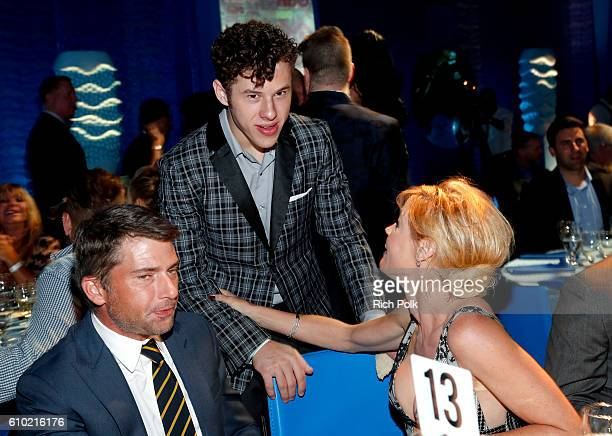Scott Phillips and actors Nolan Gould and Julie Bowen attend the Los Angeles LGBT Center 47th Anniversary Gala Vanguard Awards at Pacific Design...