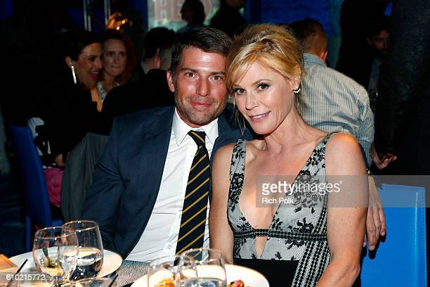 Scott Phillips and actress Julie Bowen attend the Los Angeles LGBT Center 47th Anniversary Gala Vanguard Awards at Pacific Design Center on September...