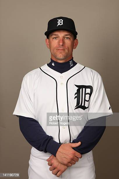 Scott Pickens of the Detroit Tigers poses during Photo Day on Tuesday February 28 2012 at Joker Marchant Stadium in Lakeland Florida