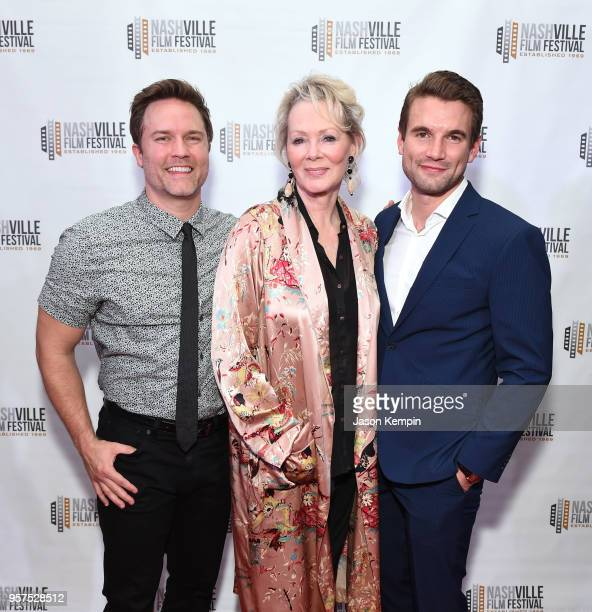 Scott Porter Jean Smart and Alex Russell attend the screening of 'Bramptons Own' at the Regal 27 Hollywood Theater on May 11 2018 in Nashville...