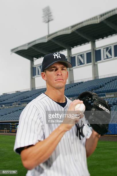 Scott Proctor of the New York Yankees poses for a portrait during Yankees Photo Day at Legends Field on February 25 2005 in Tampa Florida